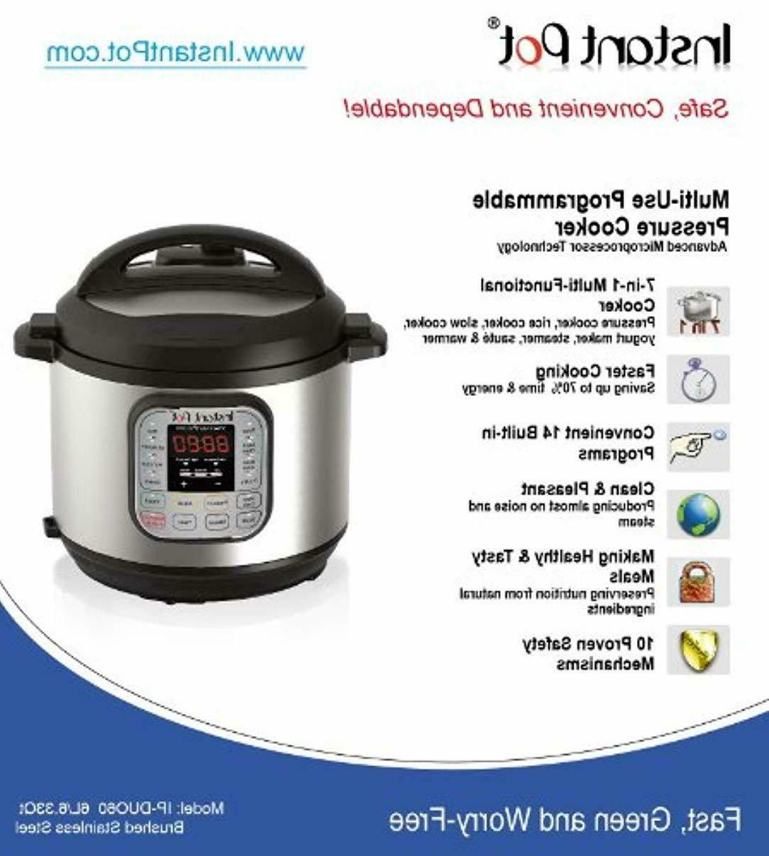 Instant DUO60 Qt 7-in-1 Pressure Cooker, Slow
