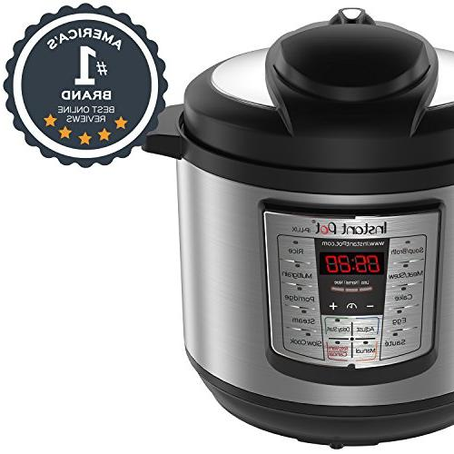 Instant 8 Qt 6-in-1 Programmable Pressure Cooker, Cooker, Rice Steamer,