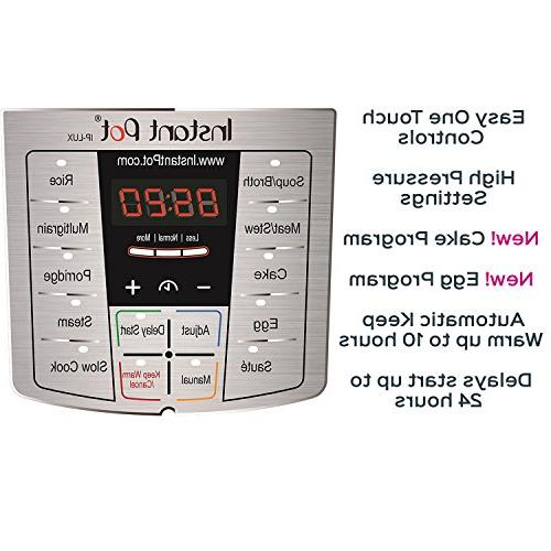 Instant 8 Qt Use Programmable Cooker, Cooker, Rice Cooker, Steamer, Warmer