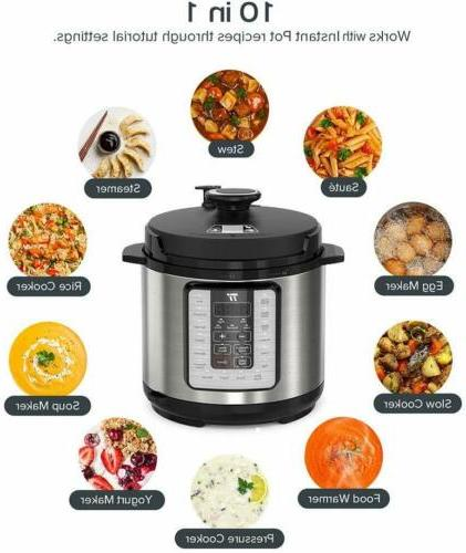 Pot 10-in-1 Electric Pressure Cooker - 6Qt rice cooker us co