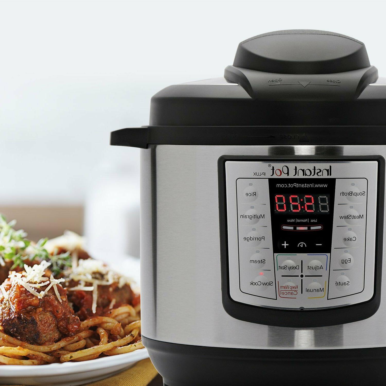 Instant Pot 6 in 1 Programmable Pressure Cooker 6 Quart 1000W V3 Instapot NEW