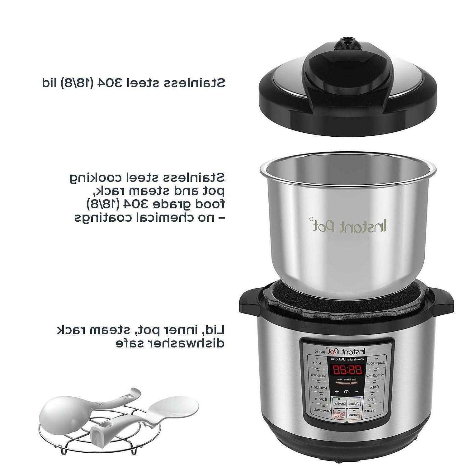 Instant Pot LUX80 8 Qt 6-in-1 Multi-Use Programmable Pressur
