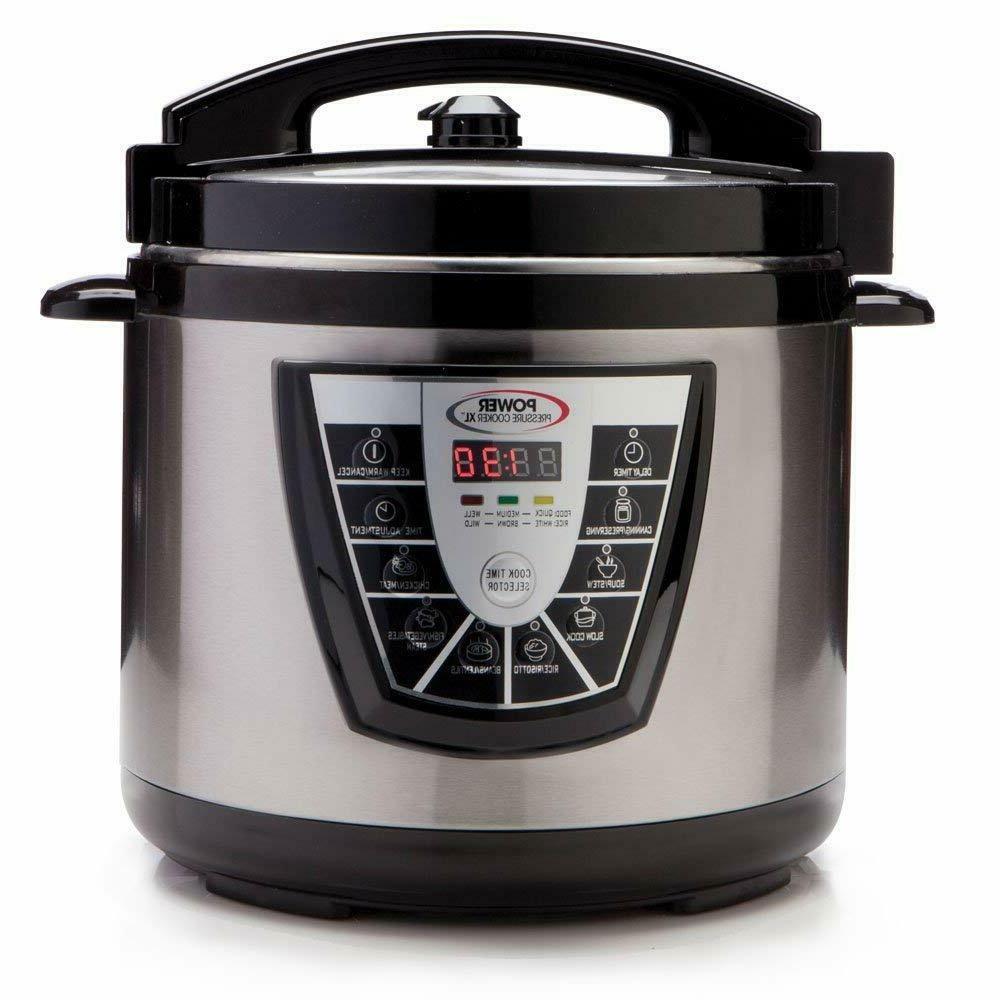 Power Pressure Cooker XL Big Pot 10 Quart QT Home Kitchen Bl