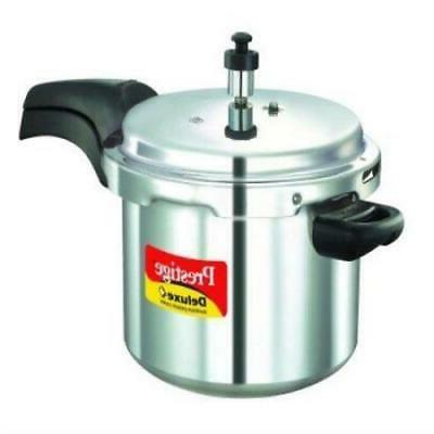 Prestige Deluxe Plus Aluminum Pressure Cooker, 5 Liter Vario