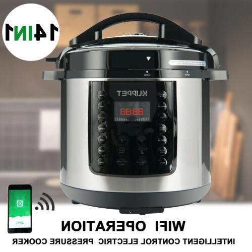 1000W 14-in-1 Electric Pressure Cooker 6-Quart Multi-Functio