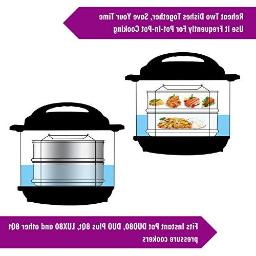 Aozita Instant Pot Quart for Cooker in Cooking, Upgrade Interchangeable Lids