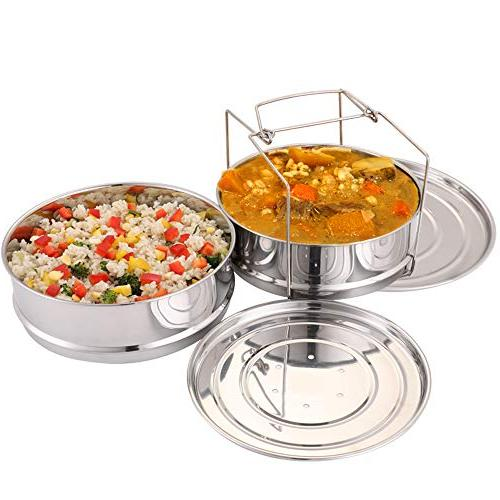 Aozita Pans with Sling Instant 8 Quart - for Pressure in Interchangeable Lids Included