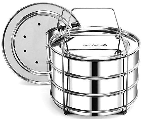 Stainless Steel Stackable Steamer Insert Pans for  Accessories