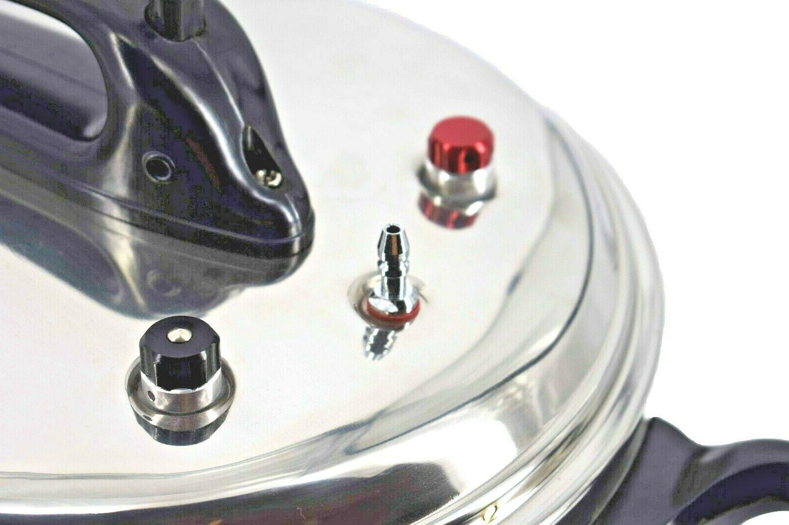 Stainless Steel Pressure With 6 Quarts,Silver