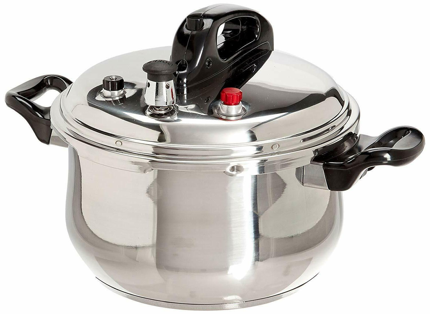 Stainless Cooker With Safety Quarts,Silver