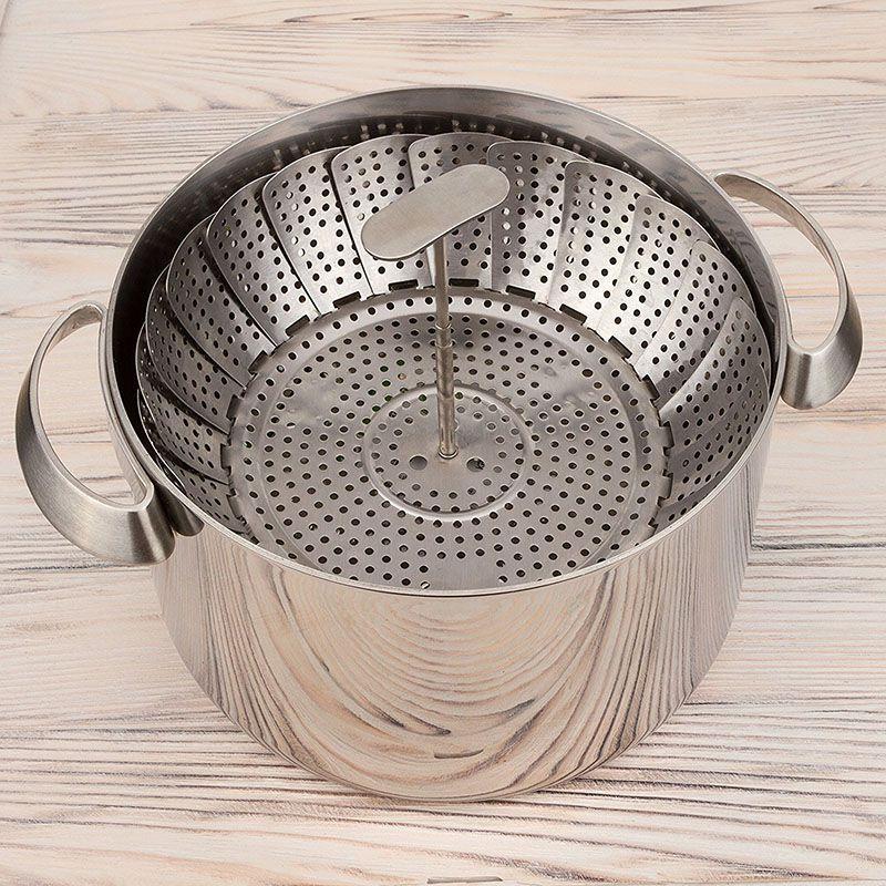 Stainless Steel Basket Fits <font><b>Instant</b></font> <font><b>Pressure</b></font> Design Premium Steamers