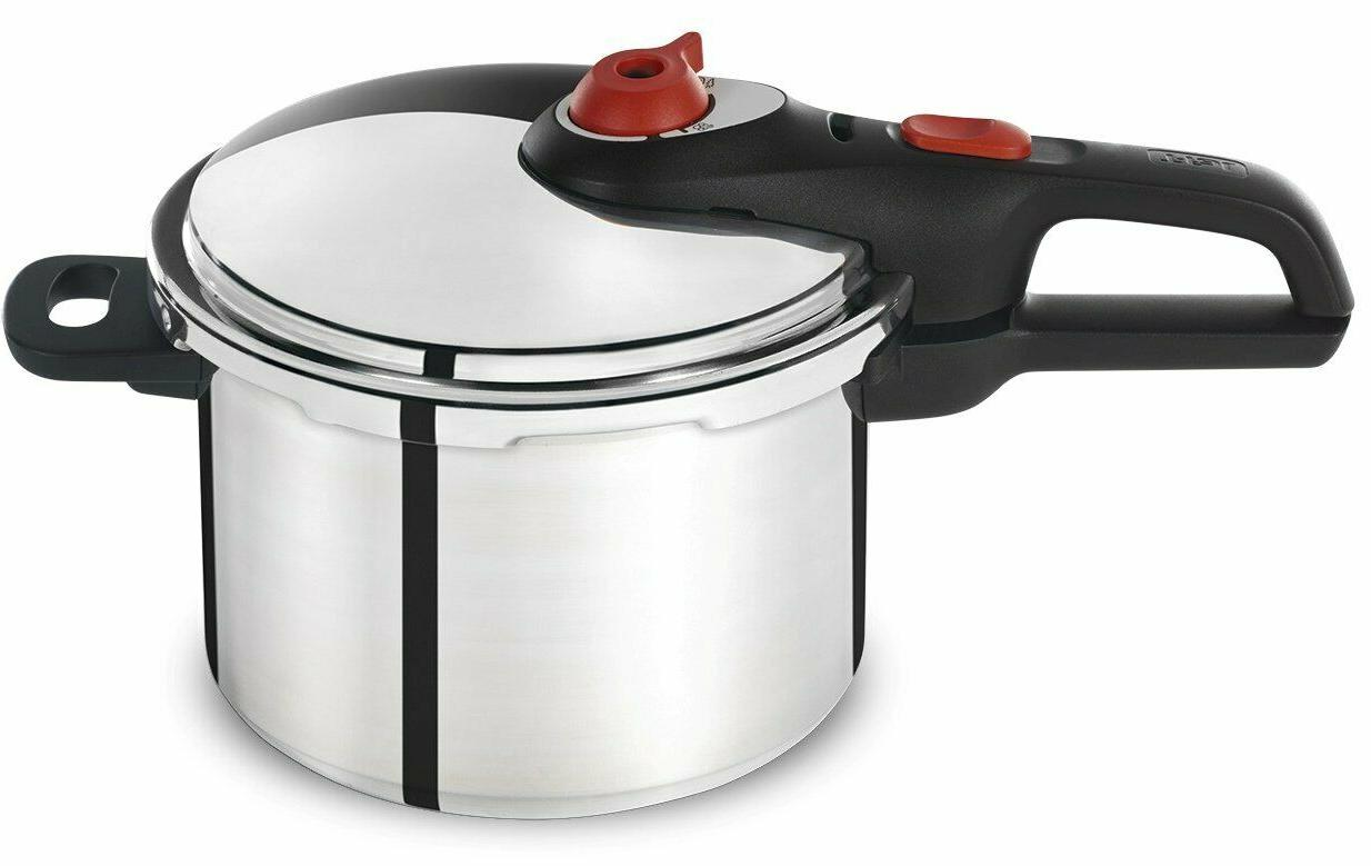 t fal pressure cooker 6qt stainless steel