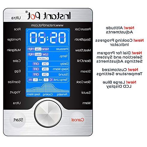 Instant 8 Qt Multi- Use Programmable Pressure Cooker, Slow Cooker, Cooker, Yogurt Maker, Cooker, Steamer, and