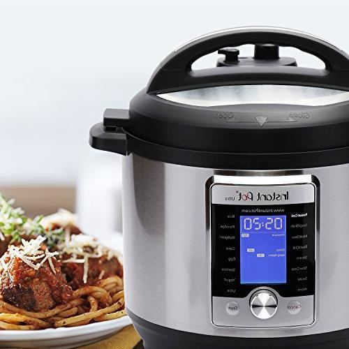 Instant Pot Ultra Qt Use Programmable Cooker, Cooker, Cooker, Yogurt Maker, Egg Cooker, Warmer, and Sterilizer
