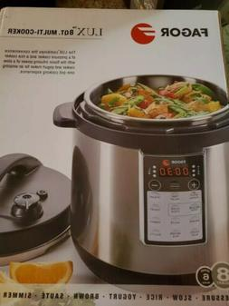Fagor LUX Multi-Cooker 8QT Electric Pressure Cooker/Slow Coo