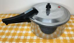 MIRRO-MATIC 6 Quart Aluminum Pressure Cooker Canner USA Jigg