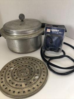 MIRRO-MATIC 6 Quart Aluminum Pressure Cooker Canner USA 396