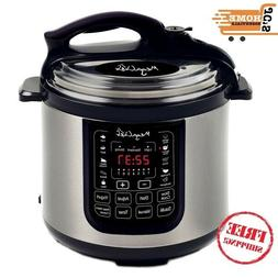 MegaChef 8 Quart Digital Pressure Cooker with 13 Pre-set Mul