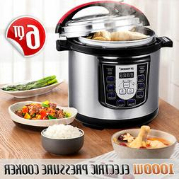 Multi-function 1000W 6QT Electric Pressure Cooker Fast Cooki