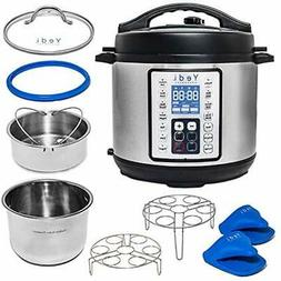 Multi-Use Programmable Pressure Cooker, 6 Quart, Stainless S