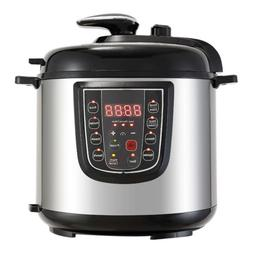 New 1000W 6QT Electric Digital Multifunction Pressure Cooker