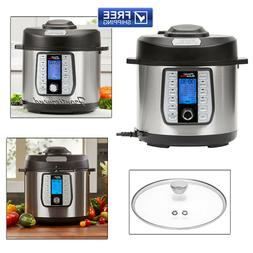 New 6-Quart Power Quick Pot Pressure Cooker 50% faster w/37