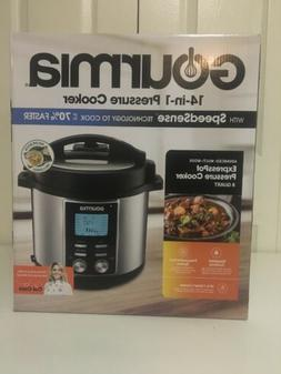 New Gourmia Digital 8 Quart Multi-Mode PRESSURE COOKER 15 in