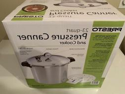 New In Box. PRESTO 23-QUART PRESSURE CANNER AND COOKER
