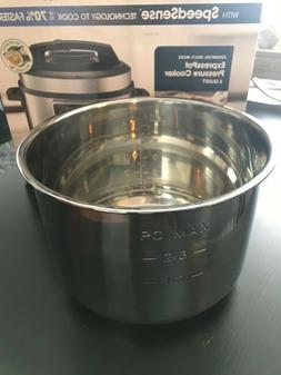 New Gourmia  Stainless Steel Inner Cooking Pot for pressure