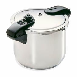 New Top Quart Stainless Steel Pressure Cooker 8Qt Silver - F
