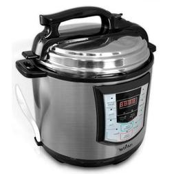 Nutrichef PKPRC22 6 Quart Digital Stainless Electronic Press