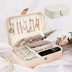 Jewelry Box Organizer Portable Travel Leather Jewellery Orna