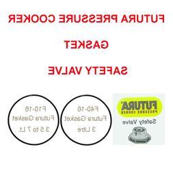 Futura Pressure Cooker Safety Valve / Sealing Gasket / Screw