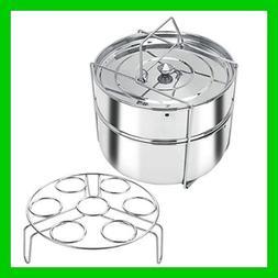 Pressure Cooker Steamer Stackable Insert Pans Instant Pot Ac