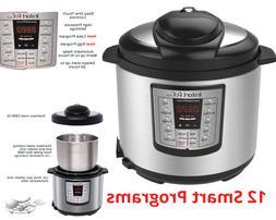 Instant Pot Pressure Slow Cooker 12 in 1 Programmable 6 Quar