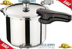 Presto 6-Quart Stainless Steel Pressure Cooker compatible In