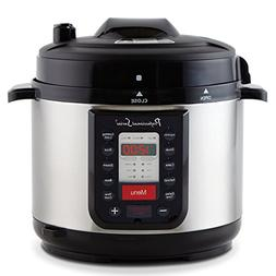 Continental Electric PS-PR218 Pressure Cooker, 5 Quart, Silv