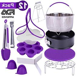 12-Piece Purple Pressure Cooker Accessories By GINEVE | Fits