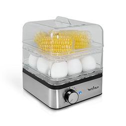 Pyle PKEC12 - Rapid Egg Cooker and Vegetable Food Steamer -
