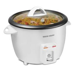 BLACK+DECKER RC3314W 8-Cup Dry/14-Cup Cooked Rice Cooker, Wh