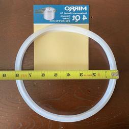 Mirro  Rubber  Pressure Cooker Gasket  4 qt. White