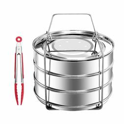 MAXROCK Stackable Stainless Steel Pressure Cooker Steamer In