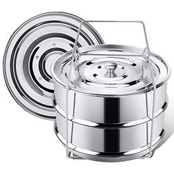 Stackable Steamer Insert Pans for Instant Pot Accessories 6/