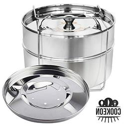 Cookeon Stackable Insert Pans with Sling for Instant Pot 6,