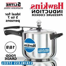 Hawkins Stainless Steel Pressure Cooker, 5 litres, Silver- F