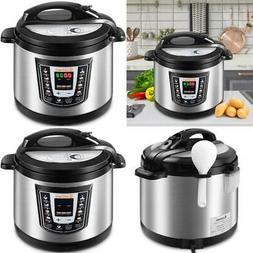 Stainless Steel Pressure Cooker Powerful 1000W Electric 9-1