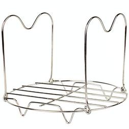 Stainless Steel Steamer Rack Trivet with Heat Resistant Sili