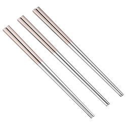 stainless steel tableware colorful chopsticks