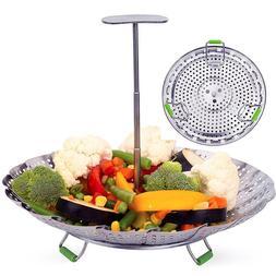 Stainless Steel Vegetable Steamer Basket Fits <font><b>Insta