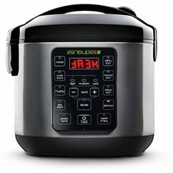3 Squares 3RC-3050 Rice Cooker, 20 Cup/4 Qt, Stainless Steel